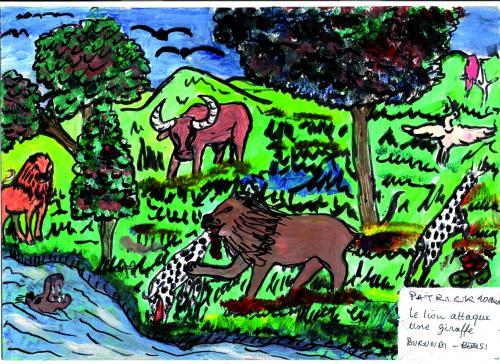 animaux009AfBurBezPatrick10LionGiraffe