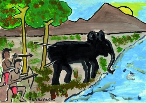 animaux034AfToKeFernandoChasseElephant