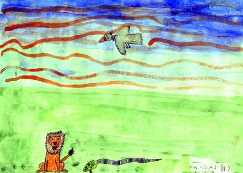 animaux062AmArgConNicolasHerrera9LionOiseau